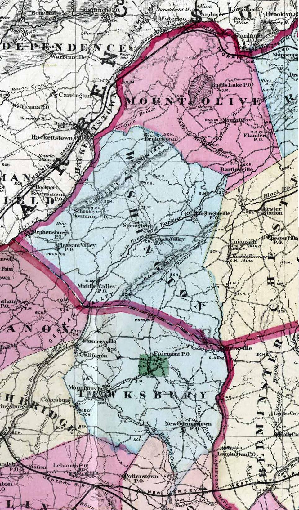 region between Morris and